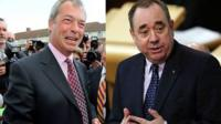 Nigel Farage and Alex Salmond