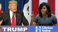 "US Republican presidential candidate Donald Trump has launched a rare attack on Michelle Obama, saying ""all she wants to do is campaign"" for his rival."