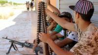 Fighters in Sirte