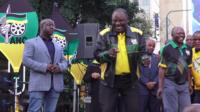 President Ramaphosa dancing after election victory