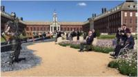 D-Day veterans at Royal Hospital, Chelsea.