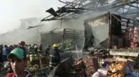 Scene of blast in Baghdad