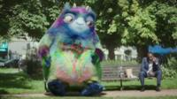 Workie the monster from Work and Pensions advert