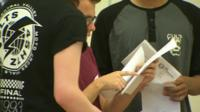 Students open GCSE results