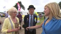 Tory voters with Daily Politics reporter Ellie Price