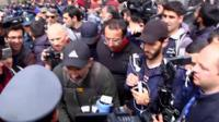 Armenian security forces arrest anti-government protest leader Nikol Pashinyan in Yerevan