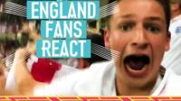 England fans react to Harry Kane's winner