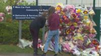 Flowers laid at Cults Academy
