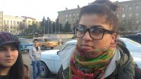 Students gathered in Stepanakert