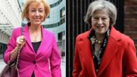 Conservative leadership candidates Andrea Leadsom and Theresa May