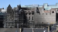 A general view of the Glasgow School of Art, Mackintosh building, which is set to be dismantled in the coming days on July 5, 2018 in Glasgow, Scotland.