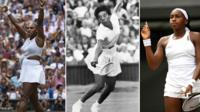 Serena Williams, Althea Gibson and Cori Gauff