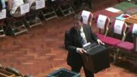 Man carrying ballot box