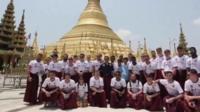 Leeds United team in Myanmar