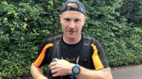 James Wright mid-marathon