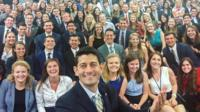 Paul Ryan and interns