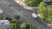 Stolen motorhome on streets of Los Angeles