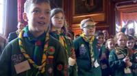 Cub scouts in Parliament