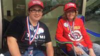 The unlikely friends slept on the pavement to see Trump speak
