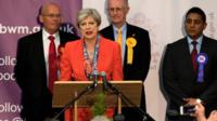 The prime minister says if the Conservatives win the most seats, they must ensure stability.