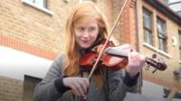 Violinist Eleanor Malan