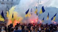 В Киев состоялся самый большой протест «Нет капитуляции»