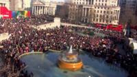Marchers in Trafalgar Square