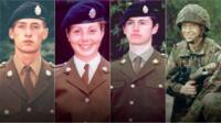 (L-R) Privates Sean Benton, Cheryl James, Geoff Gray and James Collinson
