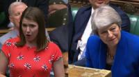"The new Lib Dem leader asks Theresa May what advice she would give to women dealing with men ""who think they can do a better job, but are not prepared to do the actual work""."