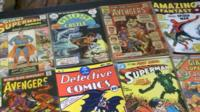 Some of the comics from the collection