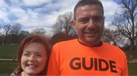 Lucy Edwards with her guide runner Steve Pitt