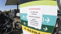Petrol is rationed in France amid a strike over labour reforms