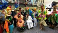 Mardi Gras-style celebration on the Isle of Wight