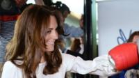 Duchess of Cambridge wears boxing gloves