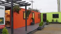 Two shipping containers converted into homes