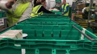 Volunteers working at foodbank