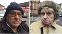 Residents in Pill, Newport gives their views on antisocial behaviour