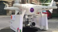 Drone with abortion pills on it before it departs from Germany