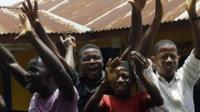 Sierra Leoneans celebrating