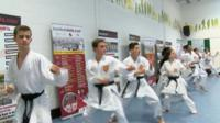Wadokai karate students in Walsall