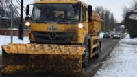 A snow plough in Worcester