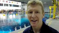 TimPeake by pool