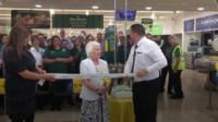 Freda, 89, reopens her local supermarket