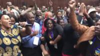 Dancing at Zanu-PF HQ