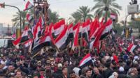 Protesters rally in Baghdad, Iraq