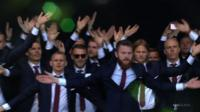 The Iceland football team are welcomed home by tens of thousands of fans in Reykjavik