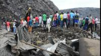 Mozambique rubbish dump collapse kills at least 17 people, crushing five homes in the night.