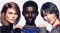 Shudu is among the digitally-created 3D models used in fashion brand Balmain's latest campaign.
