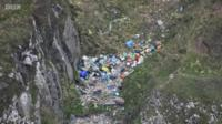 Plastic pollution, as seen from the air