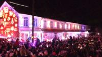 Christmas lights in the New Forest
